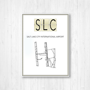 Salt Lake City International Airport Map Print