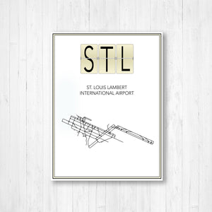 St. Louis Lambert International Airport Map Print