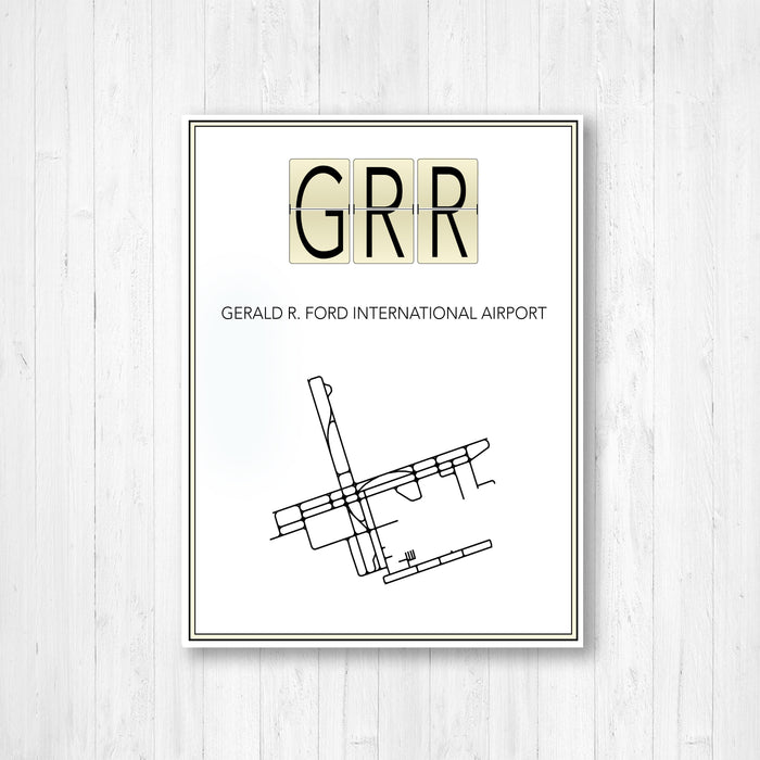 Gerald R. Ford Michigan International Airport Map Print
