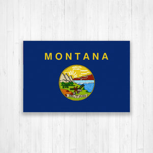 Montana State Flag Canvas