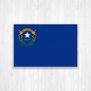 Nevada Flag Canvas