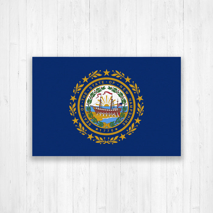 New Hampshire Flag Canvas