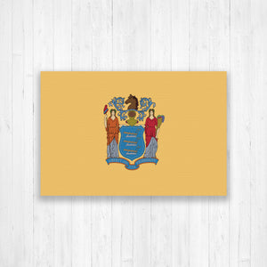 New Jersey Flag Canvas