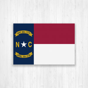 North Carolina Flag Canvas