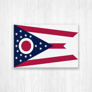Ohio Flag Canvas