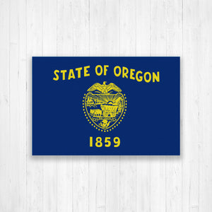 Oregon Flag Canvas