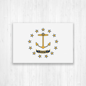 Rhode Island Flag Canvas