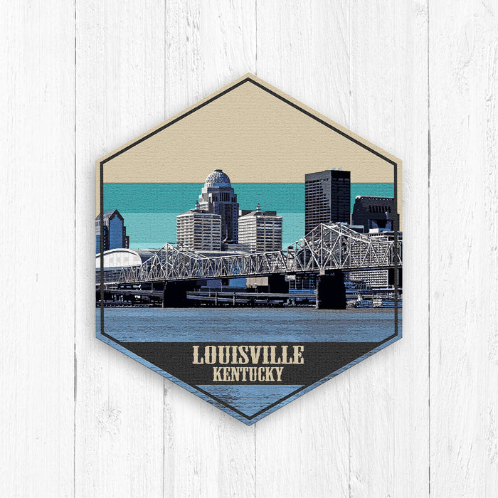 Louisville Kentucky Hexagon Illustration