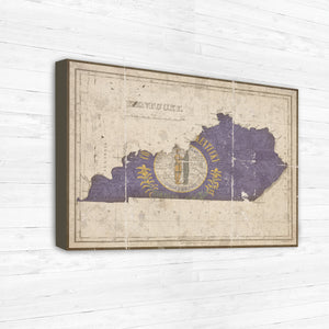 Custom Vintage Flag Maps