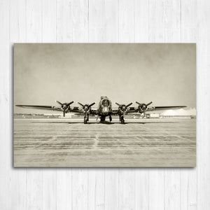 B17 Airplane Canvas