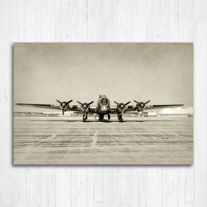 B17 Airplane Multi Panel Canvas Print