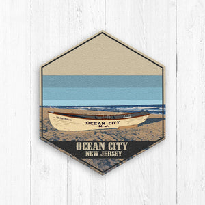 Ocean City New Jersey Hexagon Canvas