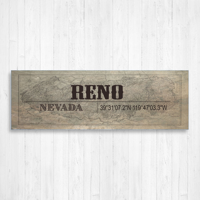 Reno Nevada Wall Canvas