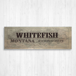 Whitefish Montana Vintage Wall Canvas