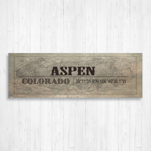 Aspen Colorado Canvas Sign