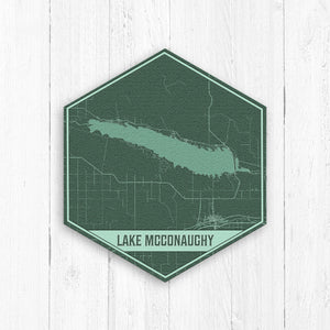 Lake McConaughy Nebraska Hexagon Print: Greens