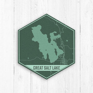 Great Salt Lake Utah Hexagon Map