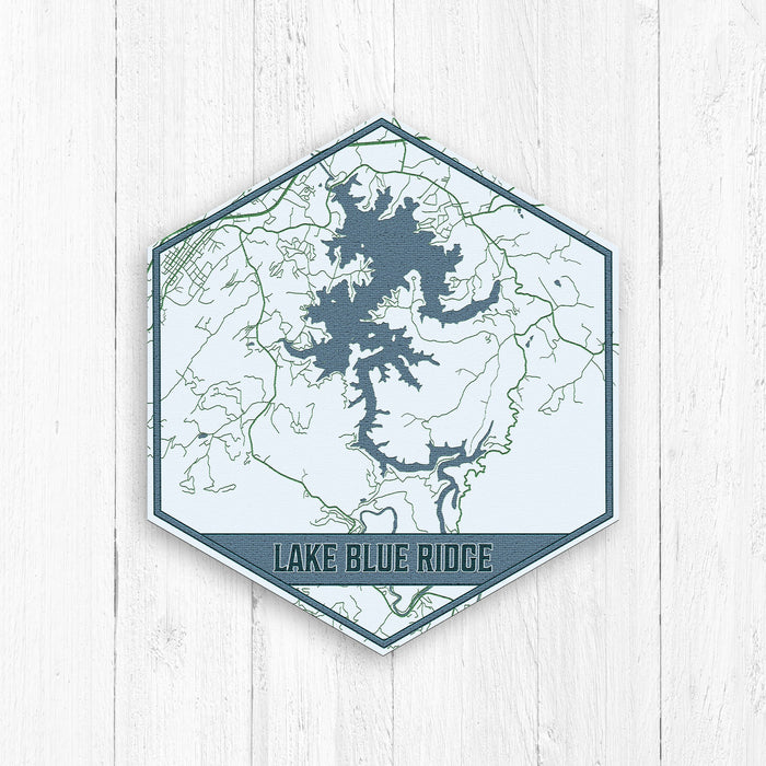 Lake Blue Ridge Georgia Hexagon Print