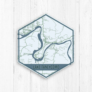 Lake Taneycomo Missouri Hexagon Print
