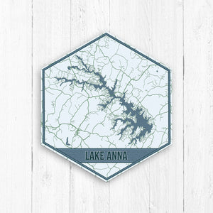 Lake Anna Virginia Hexagon Print