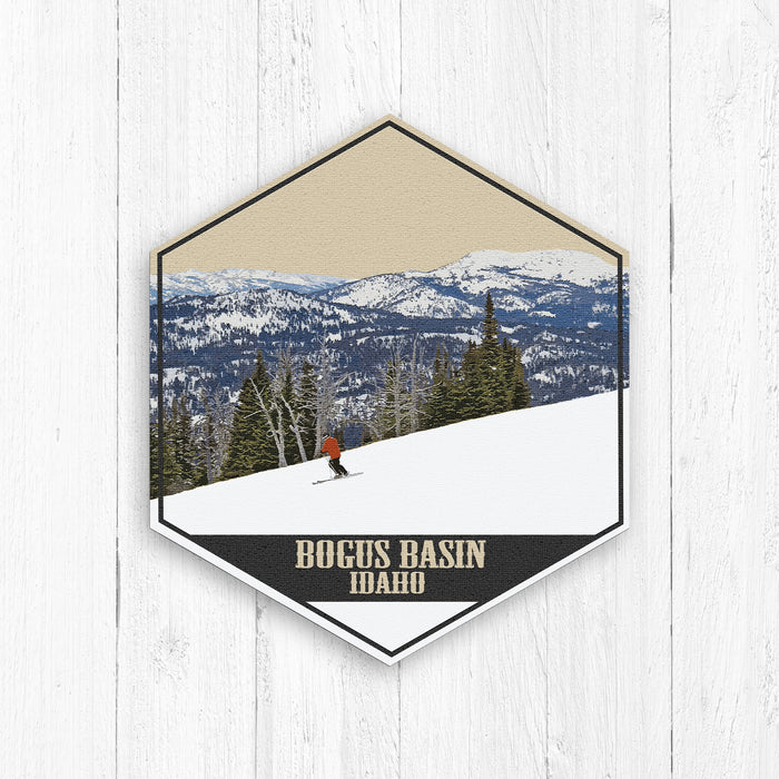 Bogus Basin Ski Resort Idaho lllustration