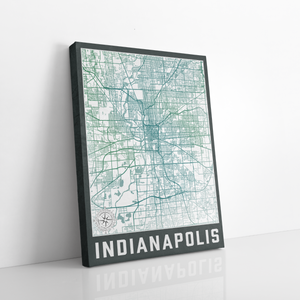 Indianapolis City Street Map Print