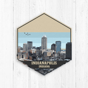Indianapolis Hexagon Canvas Illustration