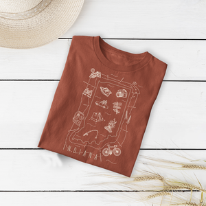 Illustrated Indiana Shirt By Printed Marketplace
