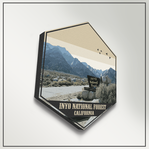 Inyo National Forest California Hexagon Canvas