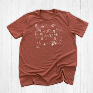 Illustrated Iowa Shirt By Printed Marketplace