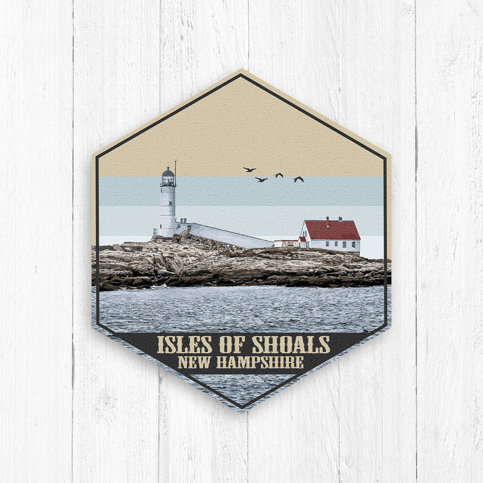 Isles of Shoals New Hampshire Hexagon Canvas