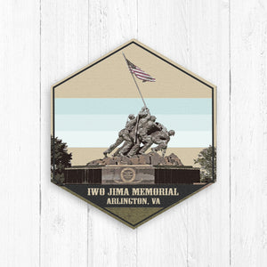Iwo Jima Memorial Virginia Hexagon Illustration