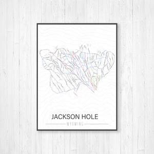 Hunter Mountain New York Ski Trail Map | Hanging Canvas of Hunter Mountain Ski Trail | Printed Marketplace