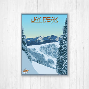 Jay Peak Vermont Modern Illustration Print
