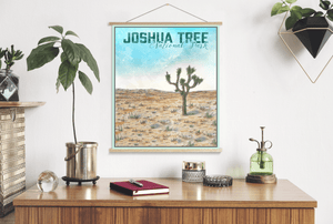 Joshua Tree National Park Watercolor Illustration