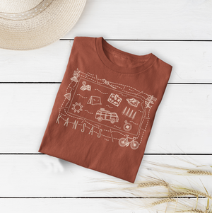 Illustrated Kansas Shirt By Printed Marketplace