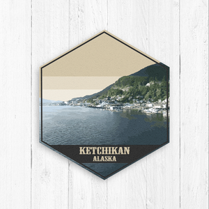 Ketchikan Alaska Hexagon Illustration by Printed Marketplace