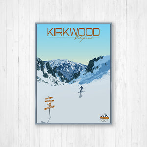 Kirkwood California Modern Illustration Print by Printed Marketplace