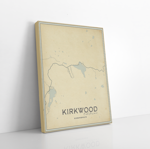 Kirkwood California Street Map Print