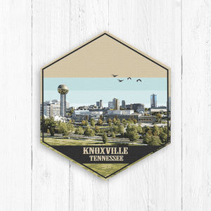 Knoxville Tennessee Hexagon Canvas