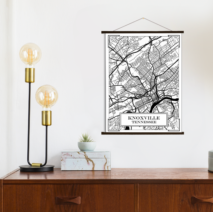Knoxville Tennessee City Street Map Print