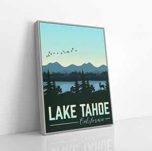 Lake Tahoe California Modern Illustration