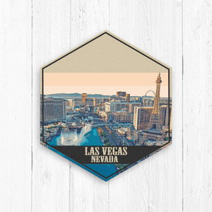 Las Vegas Nevada Hexagon Illustration