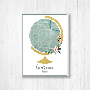 Lawrence Kansas Hanging Canvas