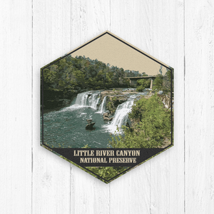 Little River Canyon National Preserve Hexagon Print