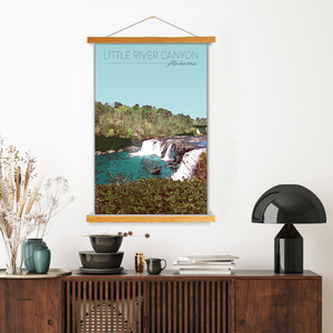 Little River Canyon, Alabama Illustration Print | Little River Canyon Hanging Canvas Print