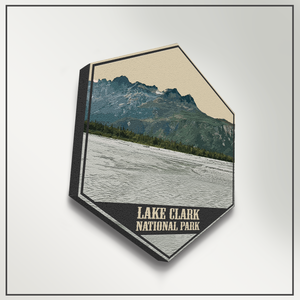 Lake Clark National Park Alaska Hexagon Illustration Print