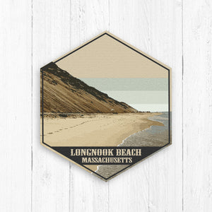 Longnook Beach Massachusetts Hexagon Illustration Print