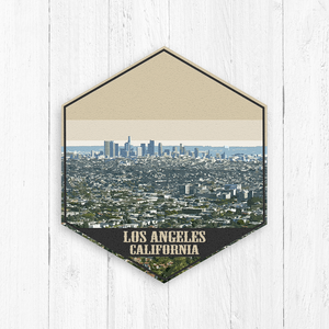 Los Angeles Hexagon Canvas Illustration