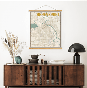 Shreveport Louisiana City Street Map Print